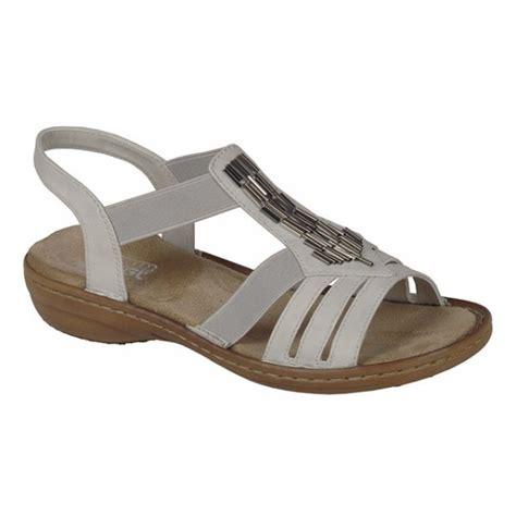 white slip on sandals rieker womens casual white slip on sandals 60800 80