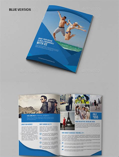 travel agency brochure template travel agency brochure template 40 best travel and tourist