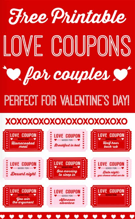 free printable love coupons for couples free printable romantic valentine s day signs catch my party