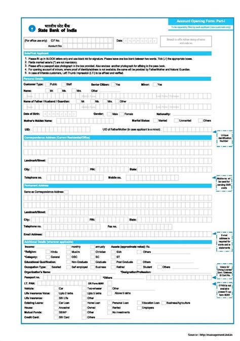 bank account for sbi bank account opening form form resume