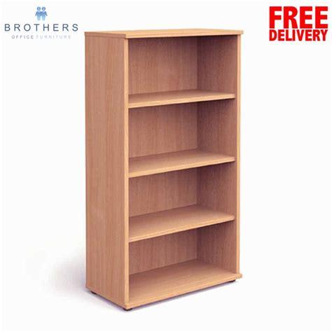 Impulse Beech 1600h Bookcase Beech Bookshelves