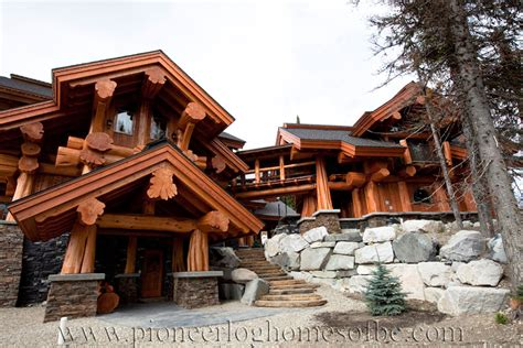 big white log home custom built log homes pioneer log