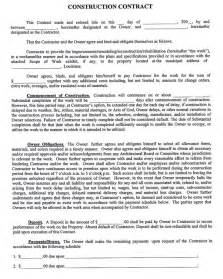 house building contract template construction company contract template sle