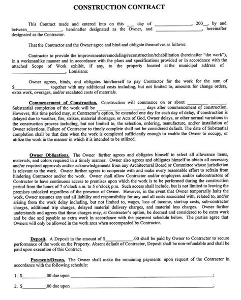 constructioncompanycontracttemplate sample construction contract macc construction