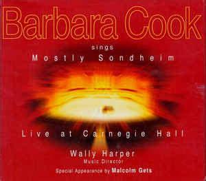 Barbara Cook Sings Mostly Sondheim Cd Album Reissue