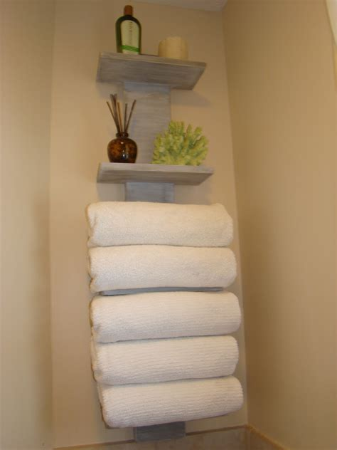 Bathroom Towel Shelving My Bath Finally Gets Some Towel Storage
