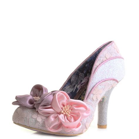 pink flower shoes womens irregular choice melba pink floral high heel