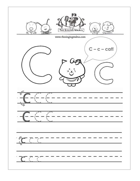 preschool printable worksheets letter c kindergarten handwriting worksheets letter c 1000 images