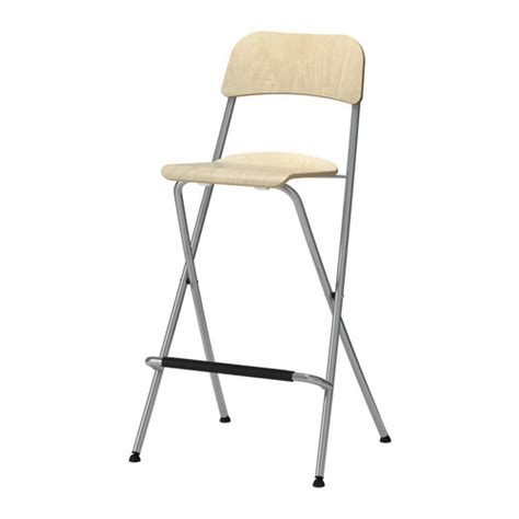 Foldable Stool With Backrest by Franklin Bar Stool With Backrest Foldable 74 Cm Ikea