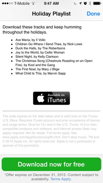 Apple Gift Card International - apple store app giving away free holiday playlist this week 9to5mac