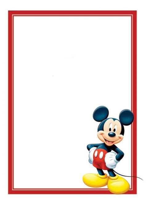 Mickey Mouse Greeting Card Template by Free Mickey Mouse Invitations Template Invitations