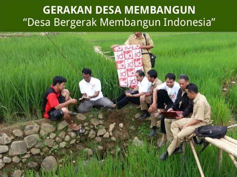 Membangun Kemandirian Desa presentasi gerakan desa membangun