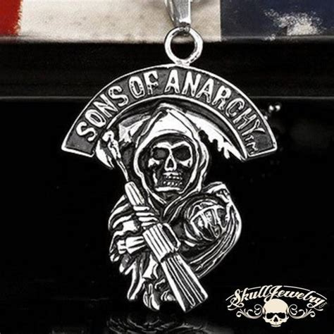 sons of anarchy pendant skulljewelry