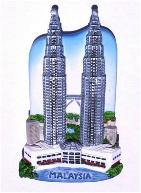 Pajangan Petronas Souvenirs Dari Malaysia petronas towers kuala lumpur malaysia high quality souvenir resin 3d fridge magnet