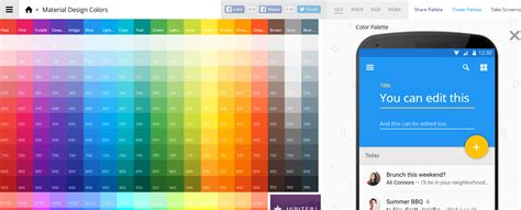 best material color combination 10 material design color palette generators
