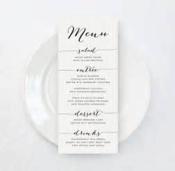 Menu Templates For Weddings by Best 25 Wedding Menu Cards Ideas On Menu