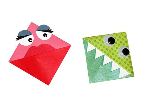 How To Make Paper Monsters - origami bookmarks rr