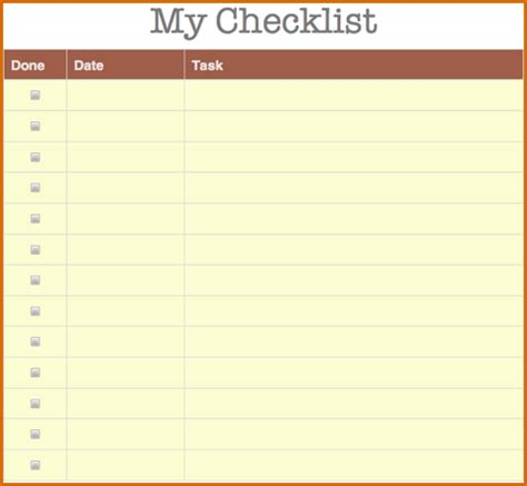 8 checklist template authorizationletters org