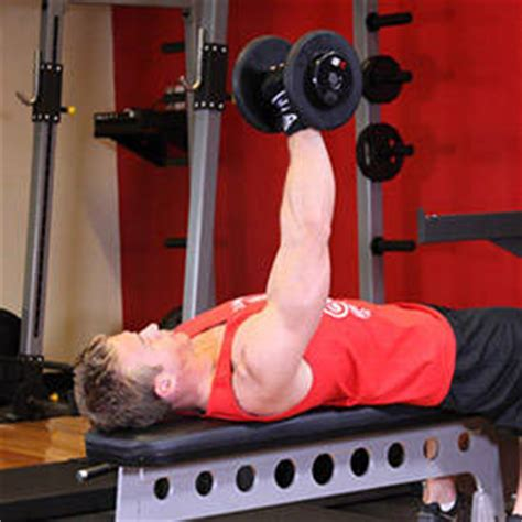 single arm bench press one arm dumbbell bench press exercise guide and video