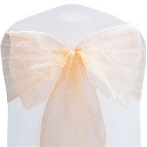 chair covers with bows 1 10 50 100 organza sashes chair cover bow sash wider