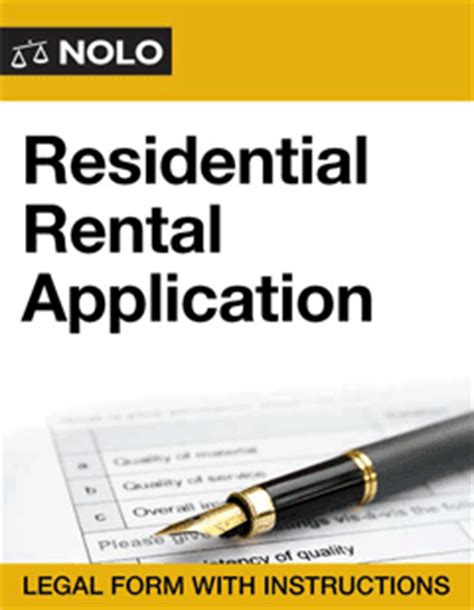 residential rental application form nolo