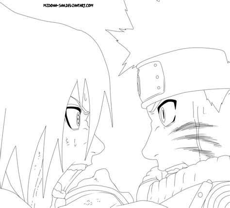 naruto and sasuke lineart by kryptonstudio on deviantart naruto vs sasuke lineart by midona san on deviantart
