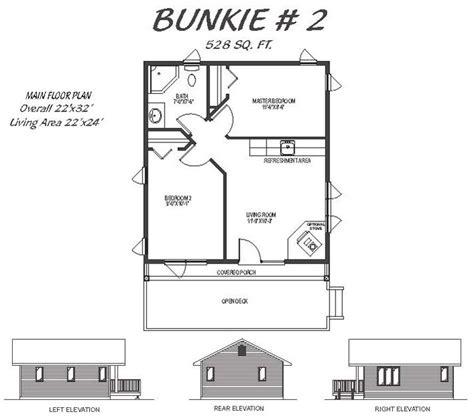 bunkie floor plans 2 bedroom bunkie plans home plans ideas