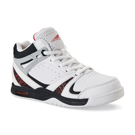 boys high top basketball shoes catapult boy s general white black high top basketball