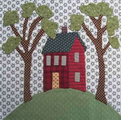 House Quilt Block by House On A Hill Quilt Block Quilts