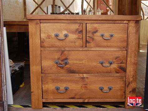 Handcrafted Pine Furniture - custom made in derbyshire plank chest of drawers by incite