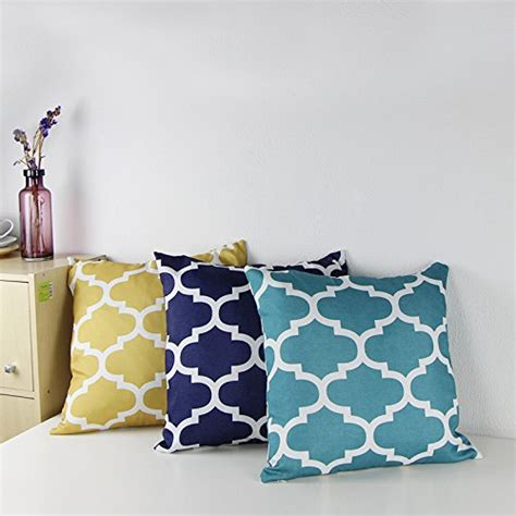 cotton linen decorative throw pillow case cushion cover
