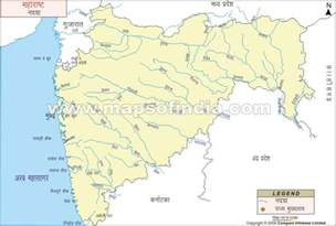 map rivers maharashtra river map