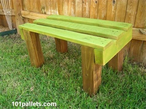 garden bench made from pallets old pallet wood bench 101 pallets