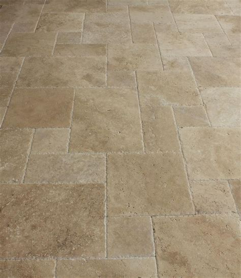 kesir travertine tile antique pattern sets meandros walnut standard