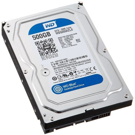 Hdd Laptop Wdc western digital wd5000azlx blue 500gb drive