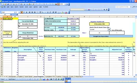 fixed asset register excel template fixed asset register excel template modifikasi sepeda motor
