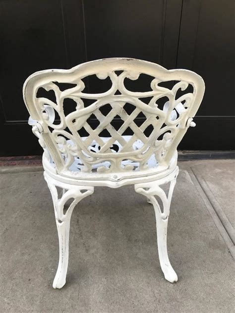 Cast Iron Patio Furniture Sale by Set Of Four Early Cast Iron Garden Chairs For Sale At 1stdibs