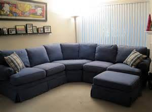Blue And White Recliner Blue Color U Shaped With Pillow For Small