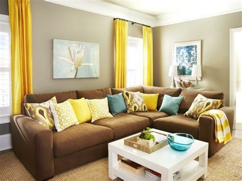 yellow curtains for living room make a brown living room living room in brown 60 ways