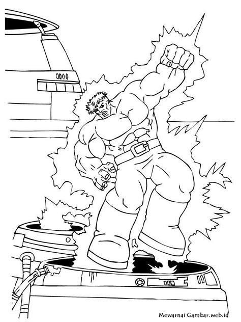 Mewarnai Gambar Hulk | Mewarnai Gambar
