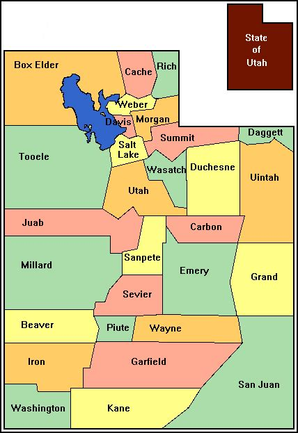 utah county map ms kirkman s class september 2014