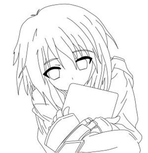 coloring page of sad girl sad anime girl on the tree coloring page sad anime girl