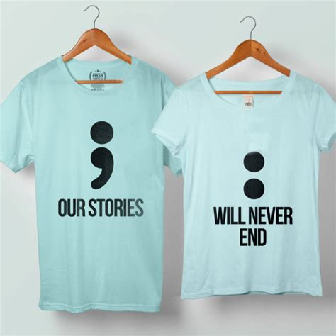 Matching T Shirts For Couples Our Story Will Never End Tshirt Size S To 5xl