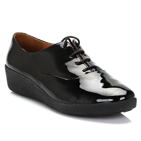 patent oxford shoes fitflop womens black f pop patent leather oxford shoes