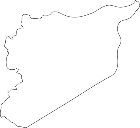 template map syria