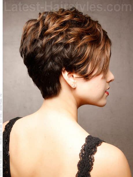 choppy hair cut side view short haircuts from the back