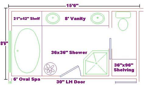 large master bathroom floor plans master bath 8x15 ideas floor plan with oval spa and shelf