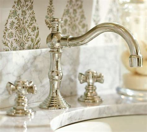 pottery barn bathroom faucets  images exton lever handle widespread bathroom faucet
