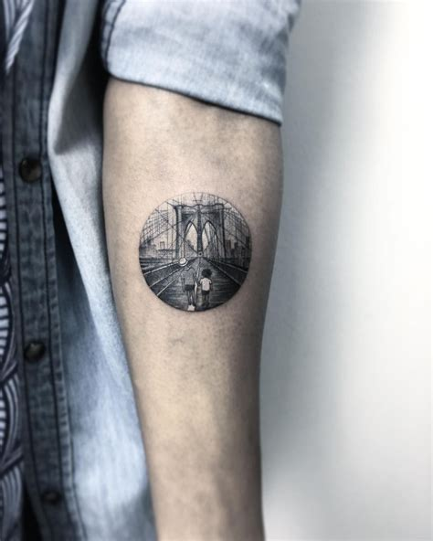 brooklyn tattoos bridge circular design by krbdk
