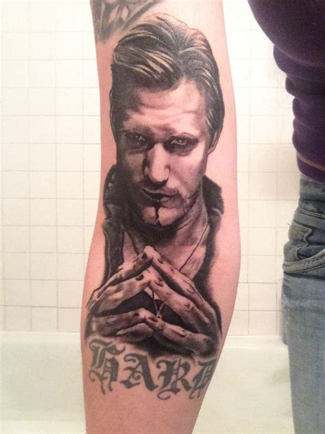eric tattoo fan shows true blood with eric northman